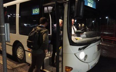 Kvällstrafiken rullar på